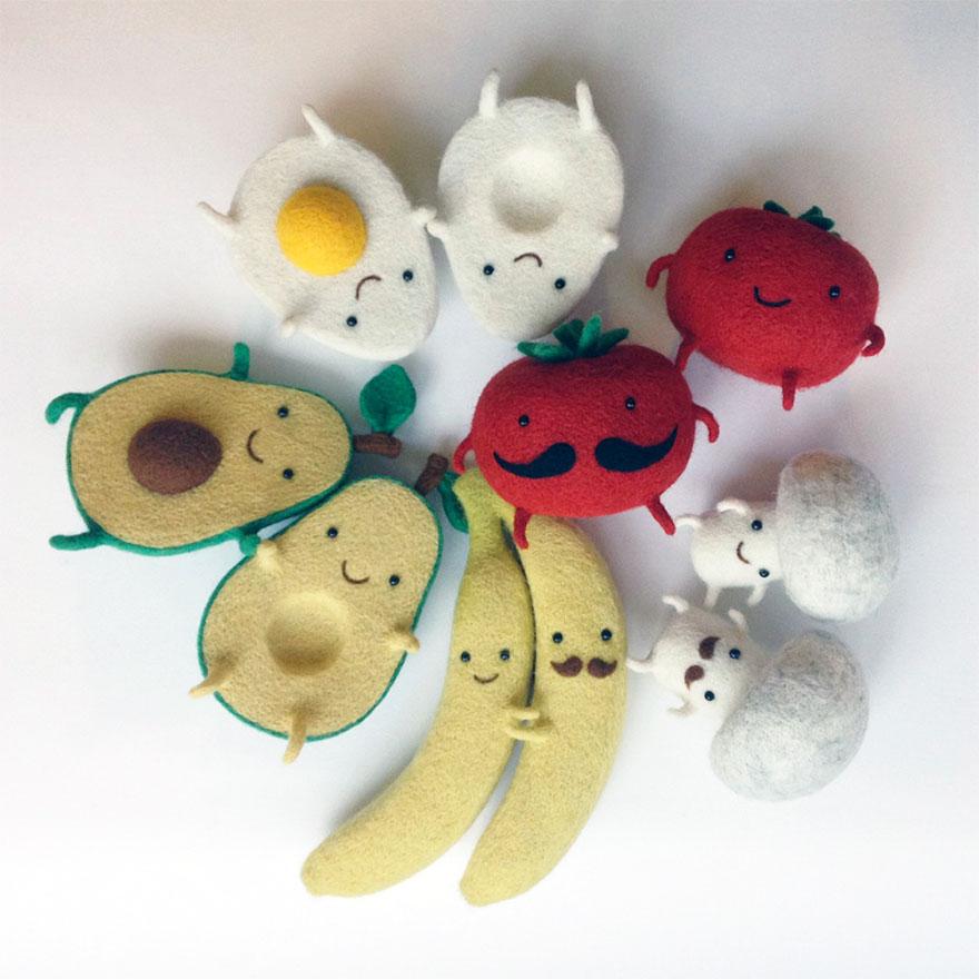 Egg Love and Other Felted Wool Sculptures By Ukrainian Artist Hanna Dovhan