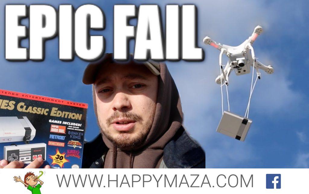 NES Classic Drone Drop Fail