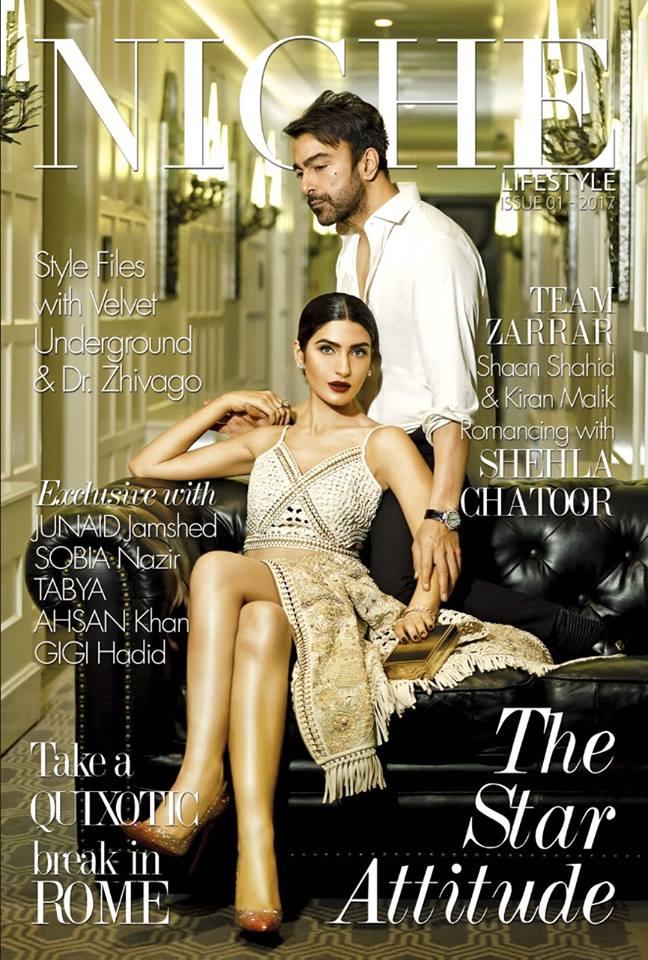 Niche – Magazine Cover – Shaan Shahid – Kiran Malik – Pakistani – 2017