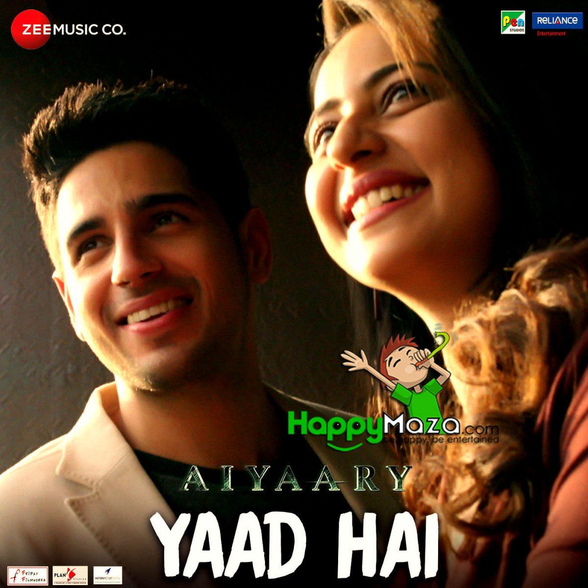 Yaad Hai Lyrics – Aiyaary – Ankit Tiwari , Palak Muchhal – 2018