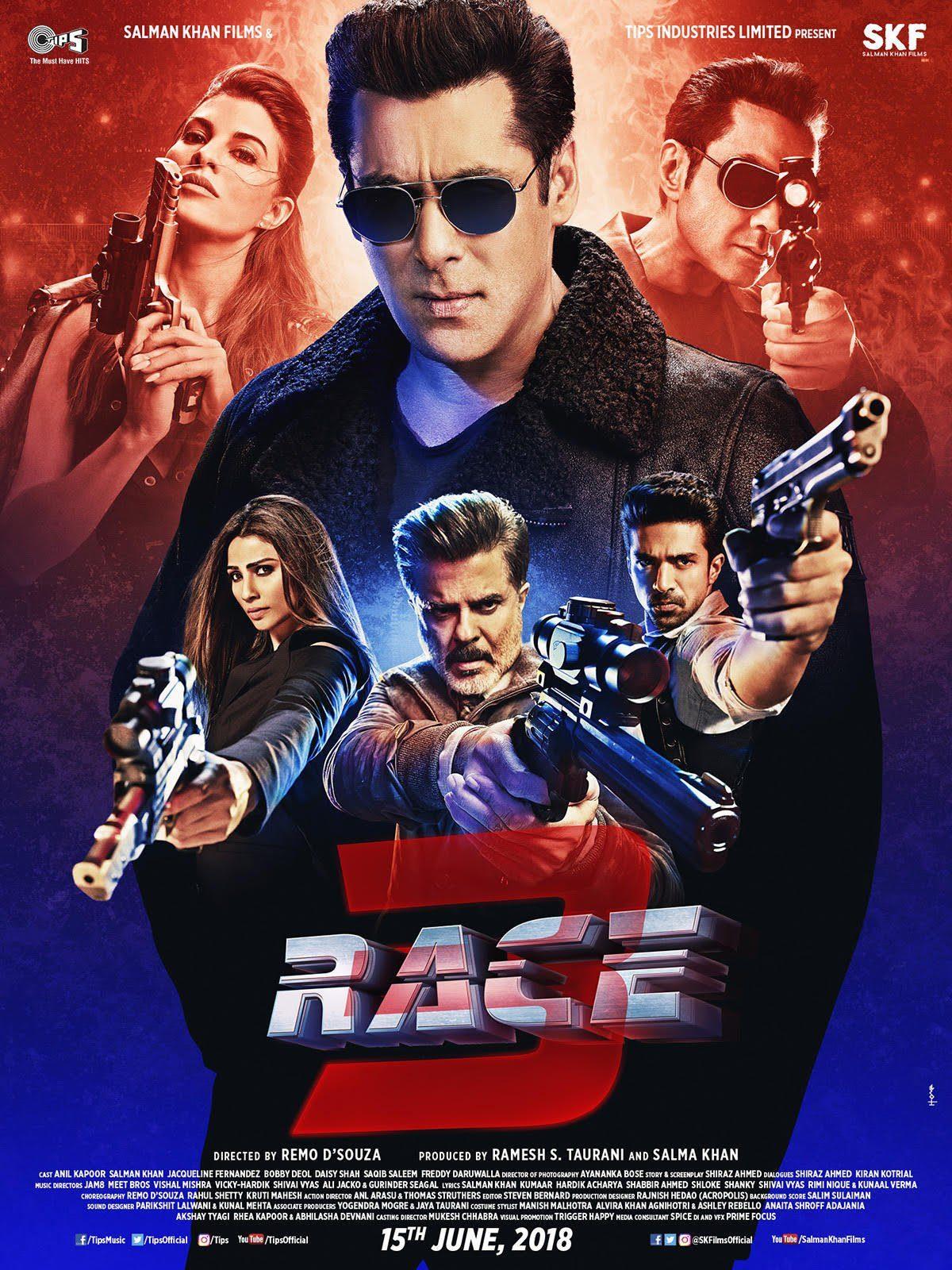 Race 3 Trailer Poster Salman Khan 2018